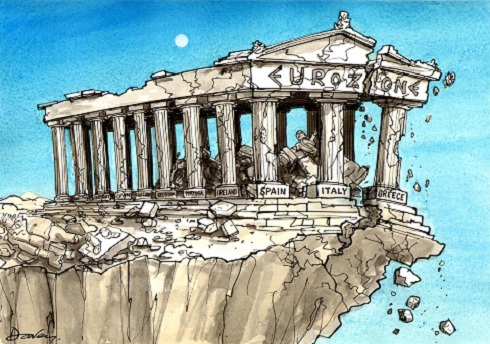 Davey cartoon_Parthenon-Eurozone_12-086