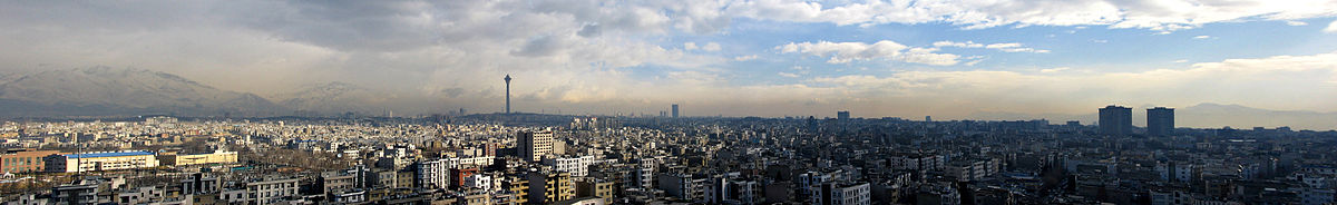 Panoramic photograph of Tehran large