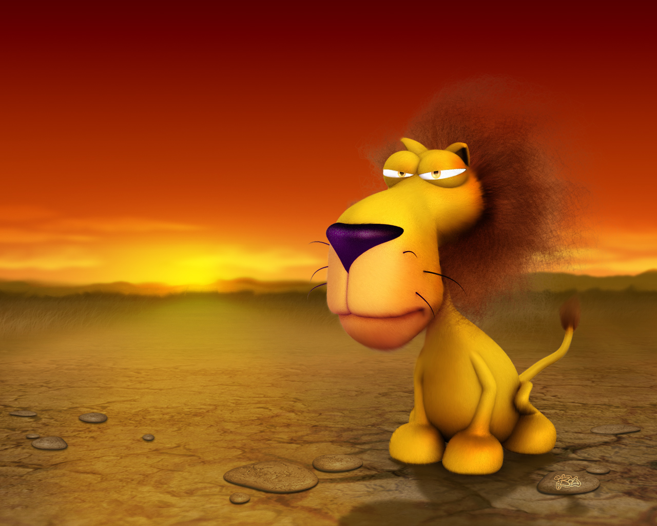 cartoon lion wallpaper-154824
