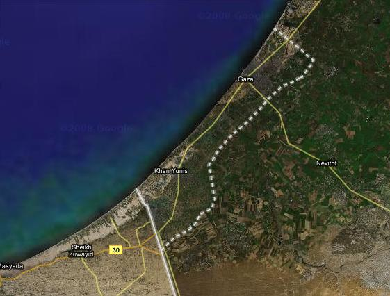 gaza strip_satellite_image